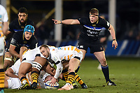 Sam Nixon of Bath Rugby. Heineken Champions Cup match, between Bath Rugby and Wasps on January 12, 2019 at the Recreation Ground in Bath, England. Photo by: Patrick Khachfe / Onside Images