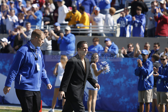 Coach Calipari and the UK basketball team are recognized during the 2nd timeout of the UK vs Alabama game. Photo by Britney McIntosh | Staff