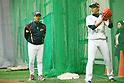 (L to R) . Tsuyoshi Yoda (JPN), .Tetsuya Utsumi (JPN), .MARCH 1, 2013 - WBC : .2013 World Baseball Classic .Japan team training .in Fukuoka, Japan. .(Photo by YUTAKA/AFLO SPORT)