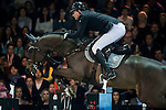 Marc Houtzager of Netherlands rides Baccarat in action at the Longines Grand Prix during the Longines Hong Kong Masters 2015 at the AsiaWorld Expo on 15 February 2015 in Hong Kong, China. Photo by Juan Flor / Power Sport Images