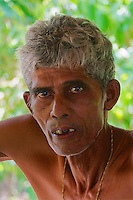 Portrait of a hard working miner from the Moonstone Mine near Marissa, Sri Lanka