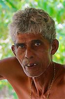 Portrait of a hard working miner from the Moonstone Mine near Marissa, Sri Lanka