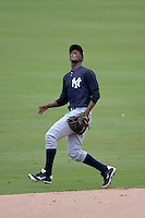 New York Yankees shortstop Jorge Mateo (11) during an Instructional League game against the Philadelphia Phillies on September 23, 2014 at the Bright House Field in Clearwater, Florida.  (Mike Janes/Four Seam Images)