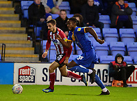Lincoln City's Zack Elbouzedi vies for possession with Shrewsbury Town's Josh Laurent<br /> <br /> Photographer Andrew Vaughan/CameraSport<br /> <br /> The EFL Sky Bet League One - Shrewsbury Town v Lincoln City - Saturday 11th January 2020 - New Meadow - Shrewsbury<br /> <br /> World Copyright © 2020 CameraSport. All rights reserved. 43 Linden Ave. Countesthorpe. Leicester. England. LE8 5PG - Tel: +44 (0) 116 277 4147 - admin@camerasport.com - www.camerasport.com