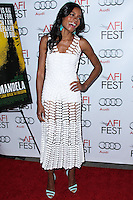 "HOLLYWOOD, CA - NOVEMBER 10: Actress Naomie Harris arrives at the AFI FEST 2013 - Premiere Of The Weinstein Company's ""Mandela: Long Walk To Freedom"" held at the Egyptian Theatre on November 10, 2013 in Hollywood, California. (Photo by Xavier Collin/Celebrity Monitor)"