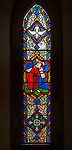 Stained glass window in church of Saint Margaret, Chilmark, Wiltshire, England, UK -  Heaton, Butler and Bayne 1856