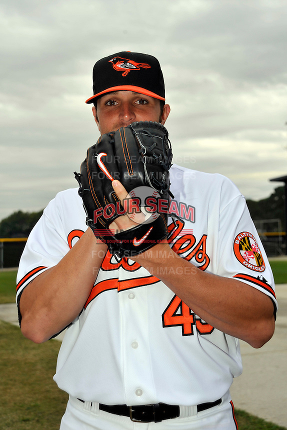 Feb 27, 2010; Tampa, FL, USA; Baltimore Orioles  pitcher Dennis Sarfate (45) during  photoday at Ed Smith Stadium. Mandatory Credit: Tomasso De Rosa