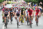 Dan Martin (IRL) UAE Team Emirates with Polka Dot Jersey Julian Alaphilippe (FRA) Quick-Step Floors at the start of Stage 21 of the 2018 Tour de France running 116km from Houilles to Paris Champs-Elysees, France. 29th July 2018. <br /> Picture: ASO/Alex Broadway | Cyclefile<br /> All photos usage must carry mandatory copyright credit (&copy; Cyclefile | ASO/Alex Broadway)