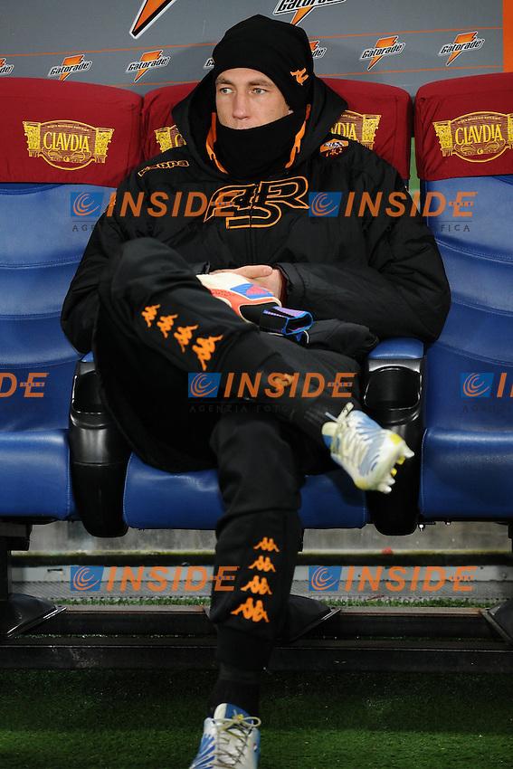 Maarten Stekelenburg Roma in panchina.08/12/2012 Roma.Stadio Olimpico.Football Calcio 2012 / 2013 .Campionato di Calcio Serie A.Roma vs Fiorentina.Foto Insidefoto / Antonietta Baldassarre.