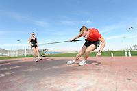 SCHAATSEN: EILAT (ISR): Trainingskamp Team Op=Op Voordeelshop, 17-01-2012, Annouk van der Weijden, Marije Joling, ©foto Martin de Jong