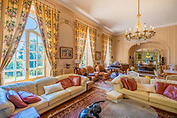 BNPS.co.uk (01202 558833)<br /> Pic: LeggettPrestige/BNPS<br />  <br /> A luxurious French chateau in a village liberated by the celebrated US general George Patton in World War Two has gone on the market for £1.35million.<br /> <br /> A stunning 19th century French chateau has emerged on the market for £1.35million - the same price as a terraced house in London.<br /> <br /> The Normandy property, located on the edge of the Bay of Mont Saint Michel, has 10 bedroom suites and is set in 14 hectares of manicured parkland.<br /> <br /> It also has equestrian facilities including 12 stables, as well as paddocks, a barn and a cottage.