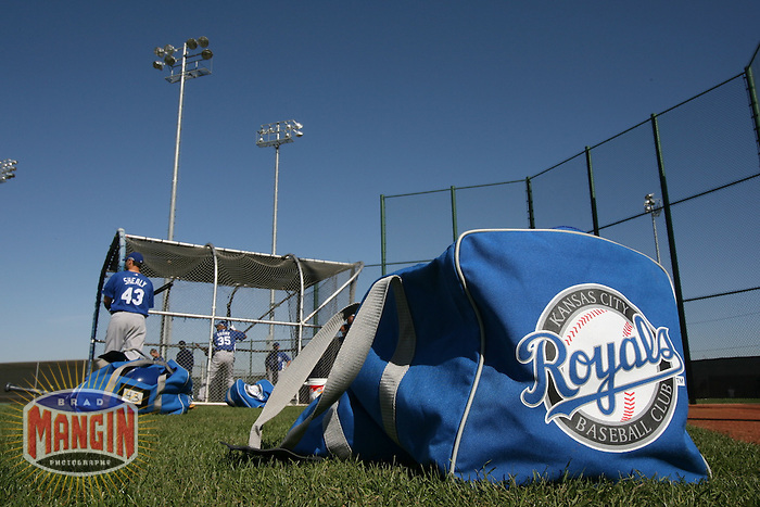 The Kansas City Royals work out during spring training in Surprise, AZ on February 27, 2007. Photo by Brad Mangin / Sports Illustrated