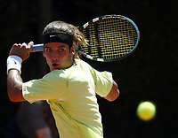 Roma 5/5/2003<br /> Roma Master Series <br /> Feliciano Lopez (Spain) during the match lost against Wayne Ferreira (south Africa)<br /> Tennis Internazionali d'Italia 2003 <br /> Foto Andrea Staccioli / Insidefoto