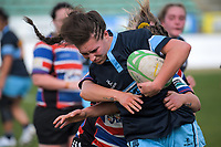 Jessican Fagen-Pease in action during the 2019 Manawatu premier women's club rugby Prue Christie Cup final match between Feilding Old Boys Oroua and Kia Toa at CET Arena in Palmerston North, New Zealand on Saturday, 13 July 2019. Photo: Dave Lintott / lintottphoto.co.nz