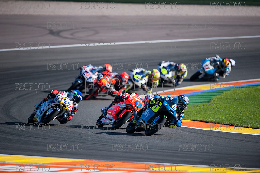 VALENCIA, SPAIN - NOVEMBER 8: Nicolo Bulega, Jorge Martin, Jules Danilo during Valencia MotoGP 2015 at Ricardo Tormo Circuit on November 8, 2015 in Valencia, Spain