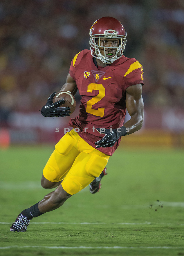 USC Trojans Adoree Jackson (2) during a game against the Washington Huskies on October 9, 2015 at the Coliseum in Los Angeles, CA. Washington beat USC 17-12.