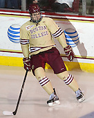 Ian McCoshen (BC - 3) is announced as a starter for the Eagles. - The Boston College Eagles defeated the visiting University of Notre Dame Fighting Irish 4-2 to tie their Hockey East quarterfinal matchup at one game each on Saturday, March 15, 2014, at Kelley Rink in Conte Forum in Chestnut Hill, Massachusetts.
