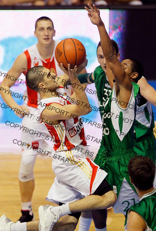 Kosarka, ABA League, sezona 2011/2012.Crvena Zvezda Vs. Zlatorog Lasko.Aleksandar Cvetkovic, left.Belgrade, 29.10.2011..foto: Srdjan Stevanovic/Starsportphoto ©