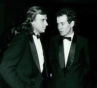 Bjorn Borg & John McEnroe 1977<br /> Photo By John Barrett-PHOTOlink.net