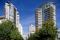 Yaletown, Vancouver, BC, British Columbia, Canada - High Rise Apartment and Condominium Buildings, Downtown City, Summer