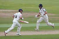 Dominic Sibley and Sam Hain add to the Warwickshire total during Warwickshire CCC vs Essex CCC, Specsavers County Championship Division 1 Cricket at Edgbaston Stadium on 10th September 2019