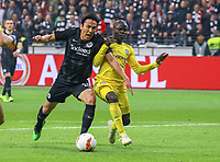 Makoto Hasebe (Eintracht Frankfurt) gegen N'Golo Kante (Chelsea FC) - 02.05.2019: Eintracht Frankfurt vs. Chelsea FC London, UEFA Europa League, Halbfinale Hinspiel, Commerzbank Arena DISCLAIMER: DFL regulations prohibit any use of photographs as image sequences and/or quasi-video.
