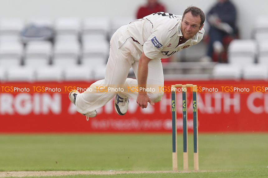 Lee Daggett in bowling action for Northants - Northamptonshire CCC vs Essex CCC - LV County Championship Division Two Cricket at The County Ground, Northampton - 09/06/12 - MANDATORY CREDIT: Gavin Ellis/TGSPHOTO - Self billing applies where appropriate - 0845 094 6026 - contact@tgsphoto.co.uk - NO UNPAID USE.