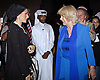 "CAMIILA, DUCHESS OF CORNWALL AND SHEIKHA MOZAH (second wife of the ruler of Qatar) .at the reception at the Museum of Islamic Art in Doha, Qatar, Qatar_13/03/2013.The Royal couple are on a tour of four Middle Eastern countries..Mandatory credit photo:©Bakshi/NEWSPIX INTERNATIONAL..**ALL FEES PAYABLE TO: ""NEWSPIX INTERNATIONAL""**..PHOTO CREDIT MANDATORY!!: NEWSPIX INTERNATIONAL(Failure to credit will incur a surcharge of 100% of reproduction fees)..IMMEDIATE CONFIRMATION OF USAGE REQUIRED:.Newspix International, 31 Chinnery Hill, Bishop's Stortford, ENGLAND CM23 3PS.Tel:+441279 324672  ; Fax: +441279656877.Mobile:  0777568 1153.e-mail: info@newspixinternational.co.uk"