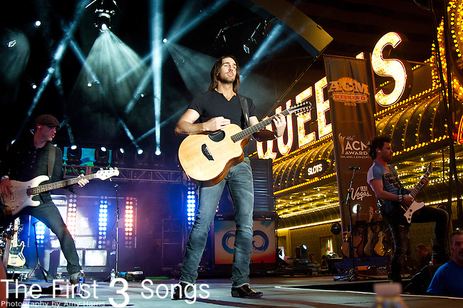 Jake Owen performs during the 2013 ACM Concerts at Fremont Street Experience Event in Las Vegas, Nevada.