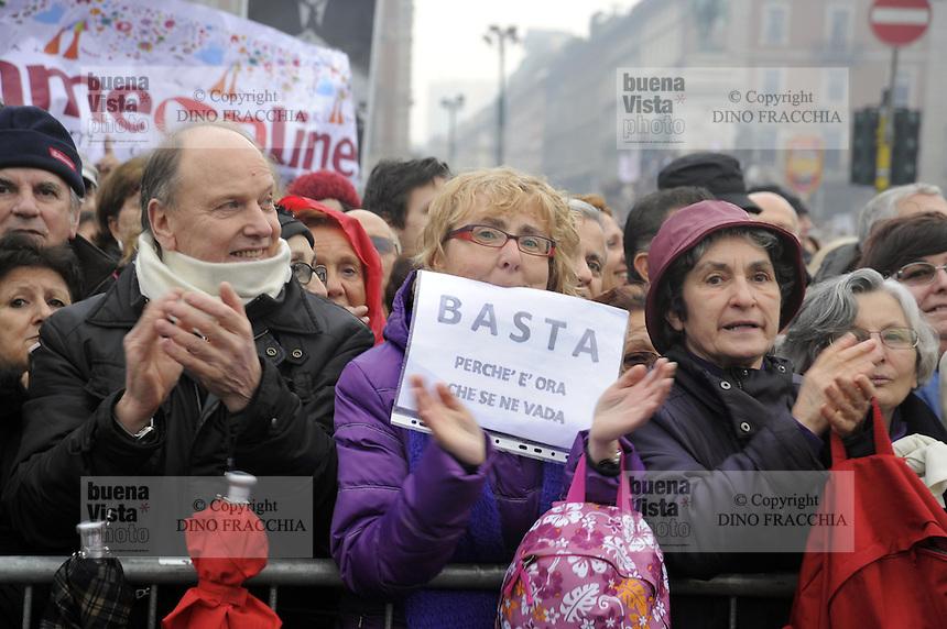 - Milano, manifestazione delle donne &quot; se non ora quando ?&quot; per chiedere le dimissioni del presidente del consiglio Silvio Berlusconi<br /> <br /> - Milan, manifestation of women &quot;if not now when?&quot; to demand the resignation of Prime Minister Silvio Berlusconi