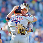 3 July 2005: Brian Schneider, catcher for the Washington Nationals, celebrates a win against the Chicago Cubs. The Nationals defeated the Cubs 5-4 in 12 innings to sweep the 3-game series at Wrigley Field in Chicago, IL. Mandatory Photo Credit: Ed Wolfstein