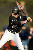 Wake Forest first baseman Allan Dykstra at bat versus Virginia at Gene Hooks Stadium in Winston-Salem, NC, Friday, March 9, 2007.  The Demon Deacons upset the #4 Cavaliers 8-3.