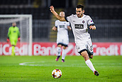 28th September 2017, Partizan Stadium, Belgrade, Serbia; UEFA Europa League group stage, Partizan versus Dynamo Kiev; Defender Bojan Ostojic of Partizan in action on the ball