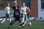 110410 under fotbollsmatchen i Damallsvenskan mellan Hammarby och Ume&aring; den 10 April 2011 i Stockholm. <br /> Foto: Kenta J&ouml;nsson<br /> Nyckelord: fotboll, damallsvenskan, hammarby, ume&aring;