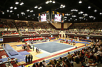 8 April 2006: Maples Pavilion during the NCAA West Regional women's gymnastics championships at Maples Pavilion in Stanford, CA.