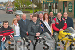 RACE: Lisa Murtagh, Reigning Rose of Tralee launching the Athea Quinn Direct Sponsored Motorcycle Race on Saturday, which will take place from 27- 29th June, 2008, surrounded by committee members and supporters.   Copyright Kerry's Eye 2008
