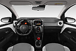 Stock photo of straight dashboard view of a 2019 Toyota Aygo x-style 5 Door Hatchback