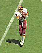 Washington Redskins wide receiver Gary Clark (84) makes a catch during the game against the Houston Oilers at RFK Stadium in Washington, DC on September 16, 1985.   The Redskins won the game 16 - 13.<br /> Credit: Howard L. Sachs / CNP