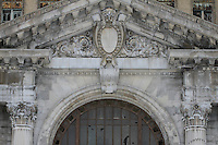 entrance of a once grand michigan central depot