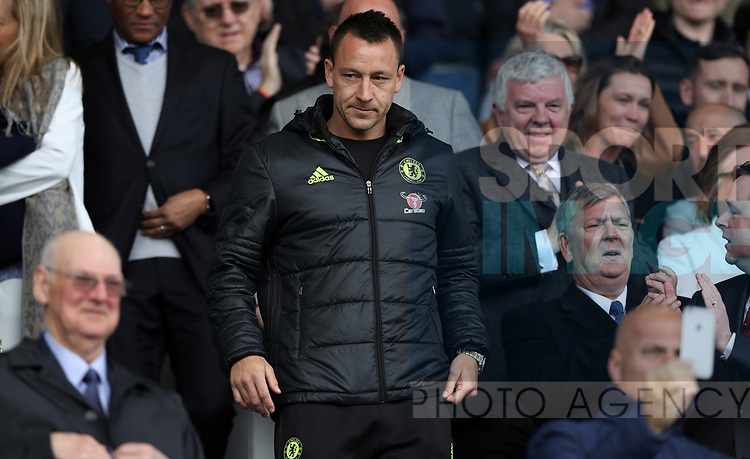 John Terry of Chelsea in the stands during the English Premier League match at Goodison Park , Liverpool. Picture date: April 30th, 2017. Photo credit should read: Lynne Cameron/Sportimage