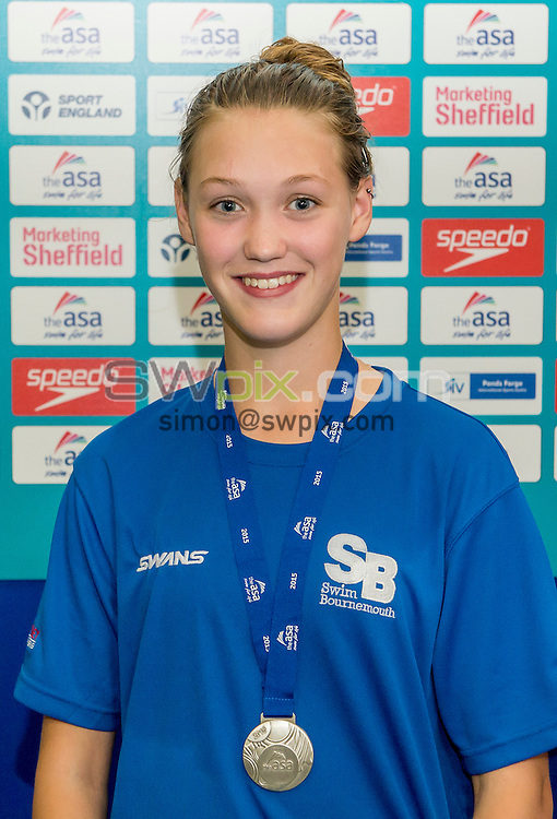 Picture by Allan McKenzie/SWpix.com - 07/08/2015 - Swimming - British Swimming ASA National Championships 2015 - Ponds Forge International Sports Centre- Sheffield, England - Izzy Pryce.