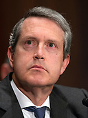 """Randal K. Quarles, Vice Chairman for Supervision, Board of Governors of the Federal Reserve System, testifies before the United States Senate Committee on Banking, Housing, and Urban Affairs on Capitol Hill in Washington, DC on """"The Semiannual Testimony on the Federal Reserve's Supervision and Regulation of the Financial System"""" on Thursday, April 19, 2018.<br /> Credit: Ron Sachs / CNP"""