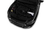 Car stock 2018 Dodge Charger SXT 4 Door Sedan engine high angle detail view