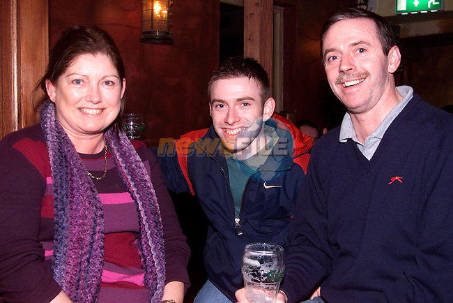 Joyce, Alan and Nicky Pentony from Oaklawns enjoying a night out in Mother Hughes..Picture: Paul Mohan/Newsfile