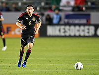 CARSON, CA - March 23, 2012: Hector Herrera (6) of Mexico during the Mexico vs Trinidad & Tobago match at the Home Depot Center in Carson, California. Final score Mexico 7, Trinidad & Tobago 1.