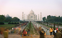 Many many photos have been taken of the Taj Mahal. We got there just as it was getting dark. A long exposure as the sun is setting of the Taj Mahal in Agra, India. The Taj Mahal was built by Mughal Emperor Shah Jahan to honor his wife, Mumtaz Mahal.