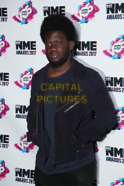 Michael Kiwanuka<br /> The VO5 NME Awards 2017 at the O2 Academy, Brixton, London on February 15th 2017<br /> CAP/GOL<br /> &copy;GOL/Capital Pictures