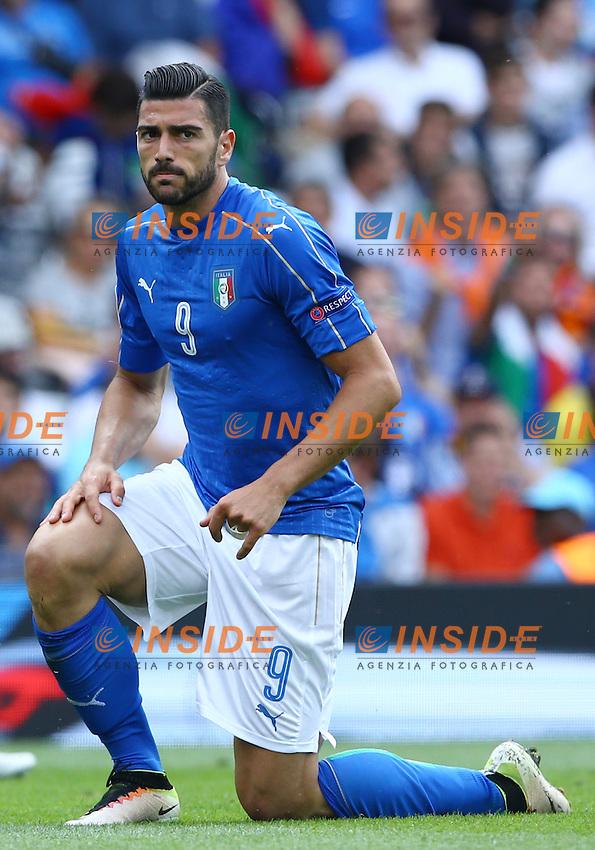 Graziano Pelle Italy<br /> Toulouse 17-06-2016 Stade Velodrome Footballl Euro2016 Italy - Sweden  / Italia - Svezia Group Stage Group E. Foto Matteo Ciambelli / Insidefoto