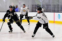 September 15, 2017: Boston Bruins center Ryan Spooner (51) passes the puck during the Boston Bruins training camp held at Warrior Ice Arena in Brighton, Massachusetts. Eric Canha/CSM