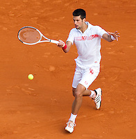 Novak DJOKOVIC (SRB) against Stanlinas WAWRINKA (SUI) in the third round. Novak Djokovic beat Stanlinas Wawrinka 6-4 6-4..International Tennis - 2010 ATP World Tour - Masters 1000 - Monte-Carlo Rolex Masters - Monte-Carlo Country Club - Alpes-Maritimes - France..© AMN Images, Barry House, 20-22 Worple Road, London, SW19 4DH.Tel -  + 44 20 8947 0100.Fax - + 44 20 8947 0117